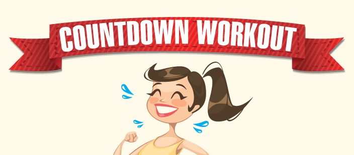 Looking for a workout that can get you a ripped and fit physique?Challenge yourself with countdown work-out and get yourself sweating. This is a body
