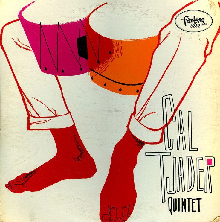 """Cal Tjader Quintet - """"Cal Tjader Quintet""""  1956 Fantasy Records 3232   Red Vinyl Record"""