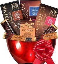GODIVA FESTIVE Holiday Gift Basket