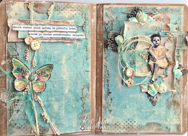 EPOKA  PAPIEROWA: Wpis do art journala - Skrzydła