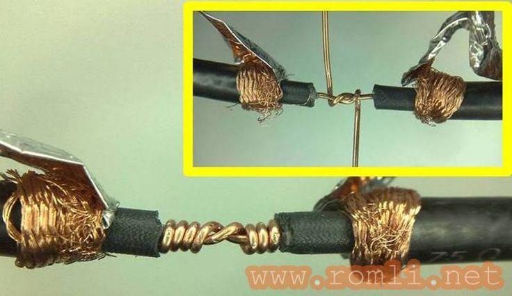 Cara menyambung kabel coaxial, kabel antena, kabel antena parabola, kabel RCA, RG6, RG59, RG58, menyambung tanpa konektor