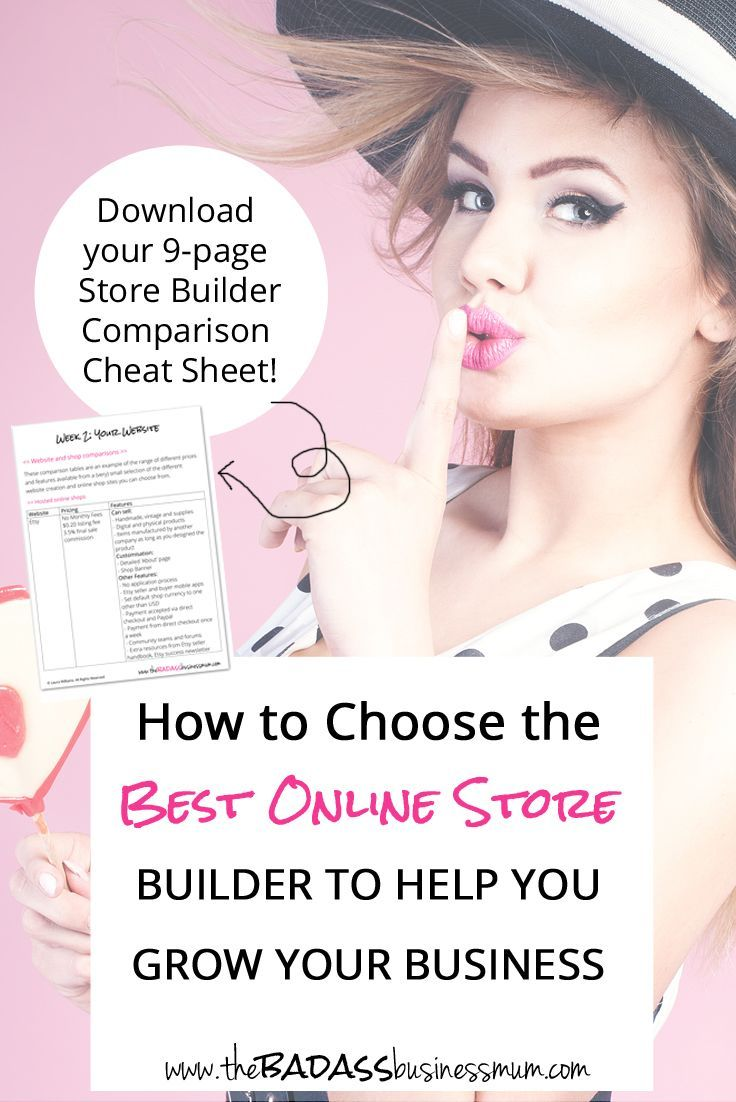 How to Choose The Best Online Store Builder to Help You Grow Your Business. And Download your totally free (NO email required!) Online Shop Builder Cheat Sheet
