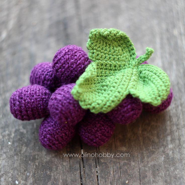 вязаный-виноград-crochet-bunch-of-grapes.jpg (1820×1821)