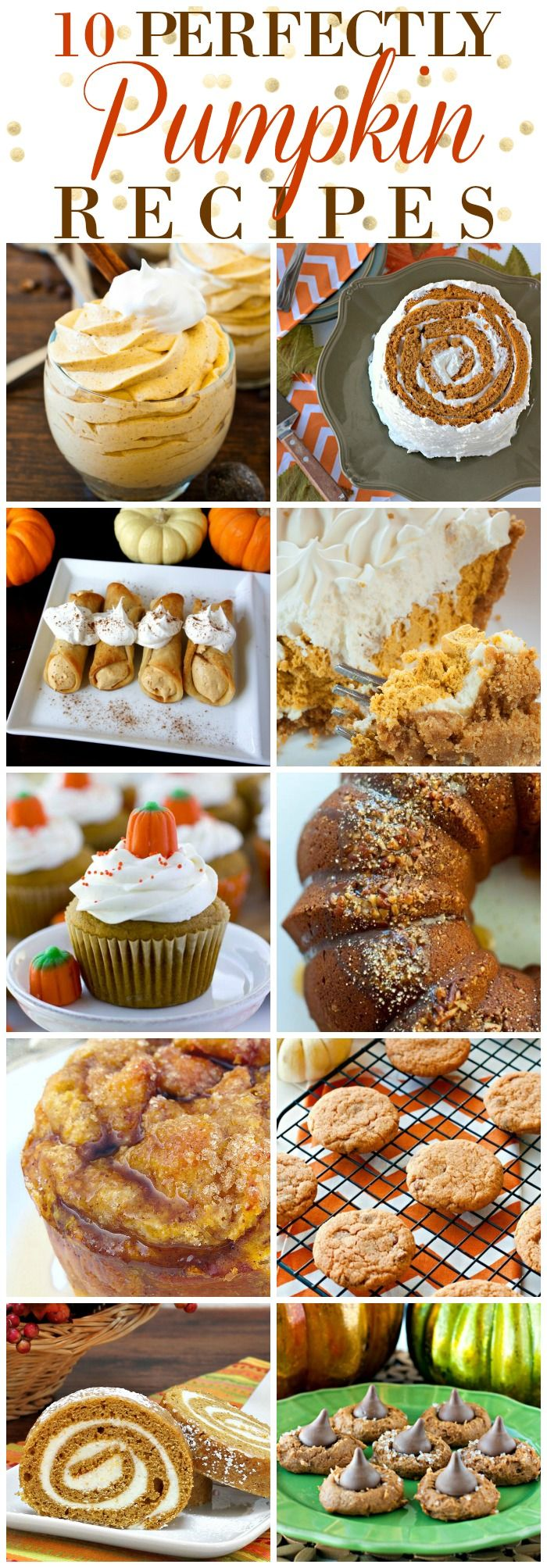 These 10 Perfectly Pumpkin Desserts would be great…