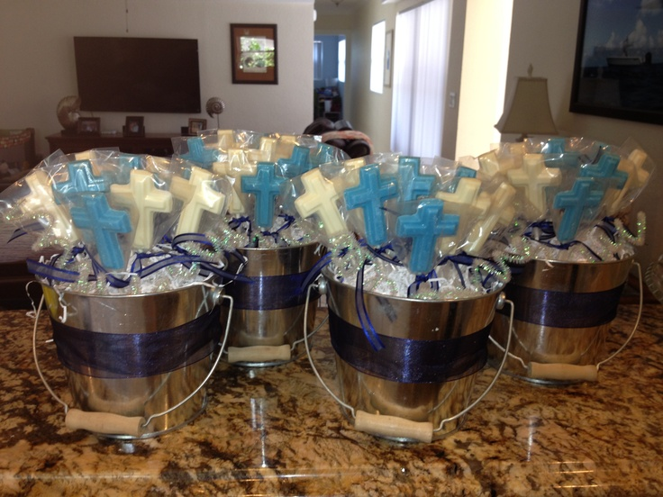 Centerpieces for baptism party christian aidan baptism pinterest - Ideas for baptism party favors ...
