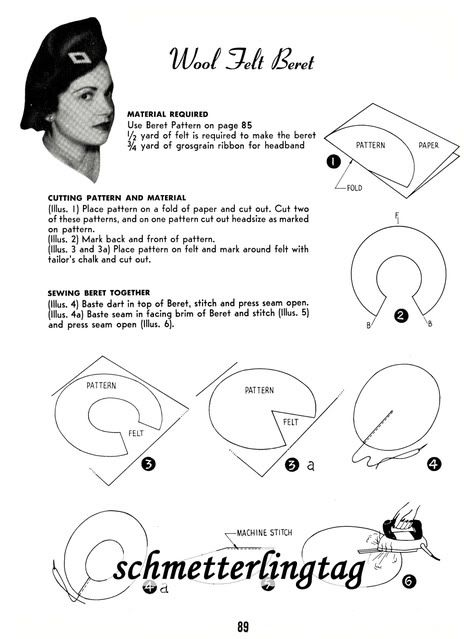 Millinery Book CARNAHAN Hat Making Make Hats 30 Pattern