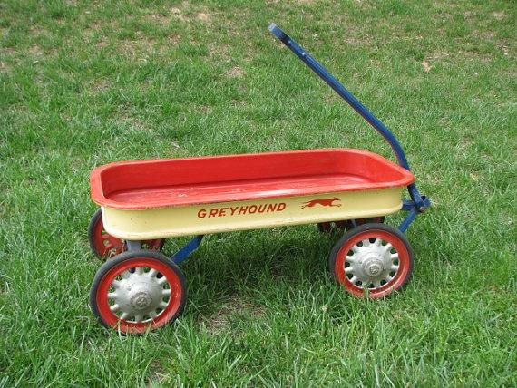 Wagons For Toys : Vintage hamilton greyhound metal toy wagon s
