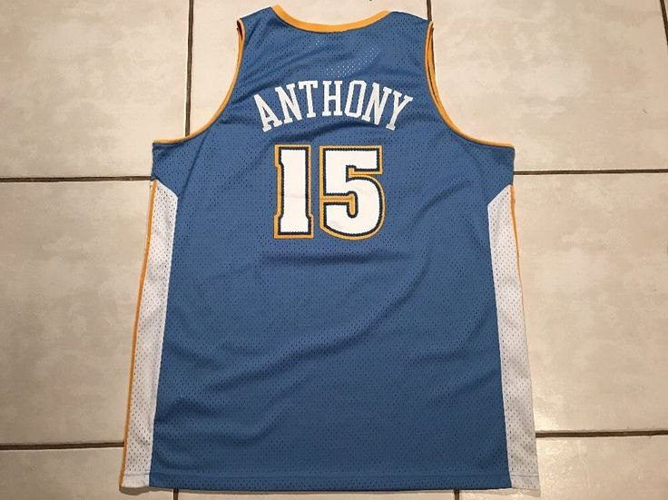 5d31fc8764f8 ... Vintage NIKE Denver Nuggets Carmelo Anthony STITCHED NBA Jersey Mens  2XL eBay ...