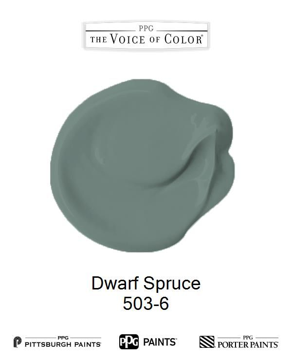 Dwarf Spruce is a part of the  collection by PPG Voice of Color®. Browse this paint color and more collections for more paint color inspiration. Get this paint color tinted in PPG PITTSBURGH PAINTS®, PPG PORTER PAINTS® & or PPG PAINTS™ products.