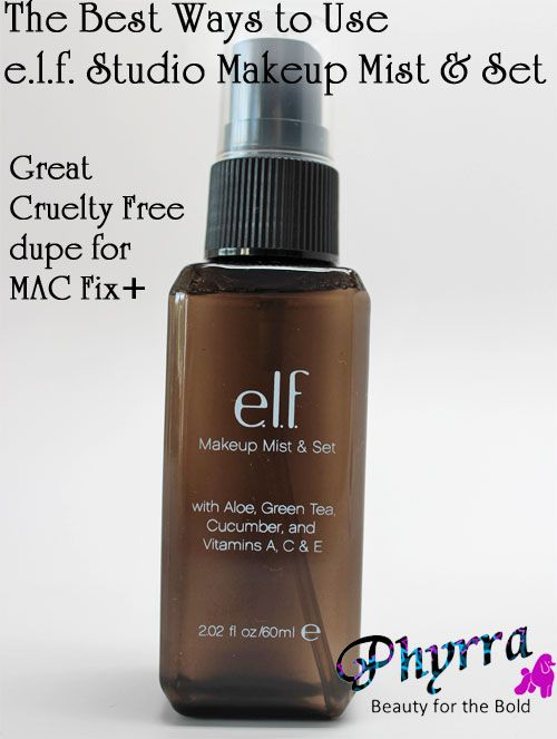 The Best Ways to Use e.l.f. Studio Makeup Mist & Set, a great (cheap and cruelty free) alternative to MAC's Fix+!