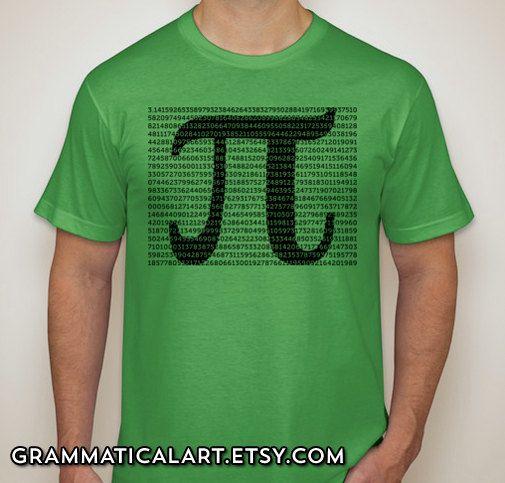 Pi Shirt Math Shirt Digits of Pi Math Teacher by GrammaticalArt, $22.00
