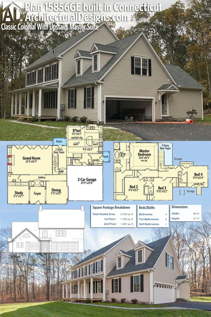 Plan 15856GE Classic Colonial House Plan With