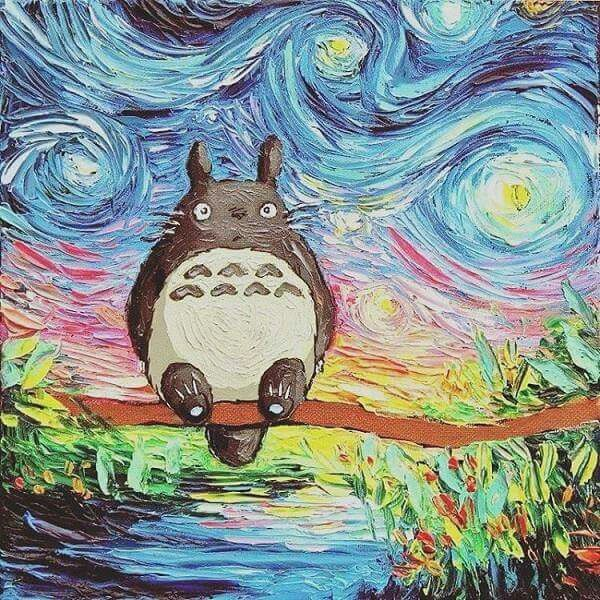 Totoro Van Gogh