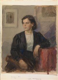 Portrait of a Young Woman by Boris Kozhin