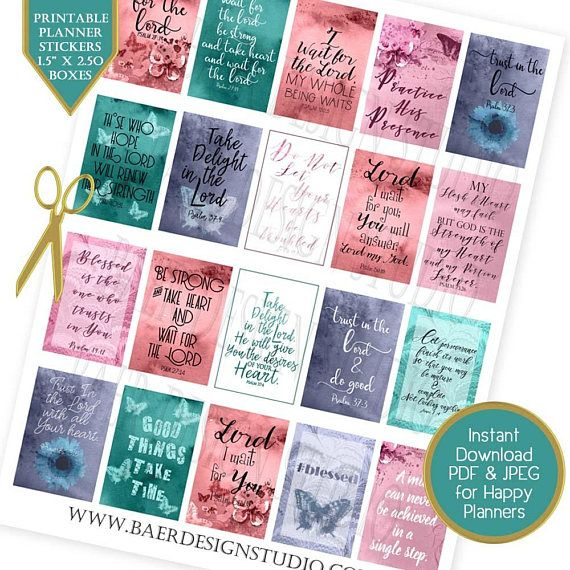 Bible journaling scriptures about trust, patience and perseverance to be added to jounrals and calenders.