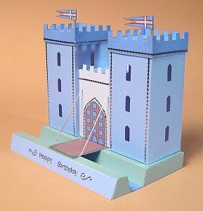 Card Craft / Card Making Templates - Opening 3D Castle by Card Carousel