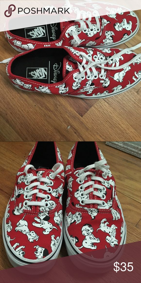 101 Dalmatian Vans Only worn about 5-6 times! Bought them for my Disney trip in 2015 and haven't worn them since! They're in pretty great shape Vans Shoes Sneakers