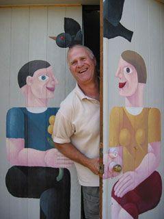 The artist, Dennis Noble
