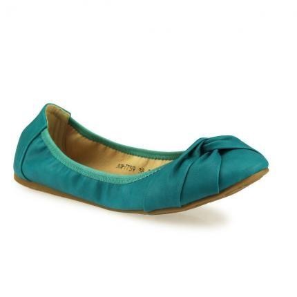 Sportliche Ballerinas #turquoise #flats #shoe #jepo