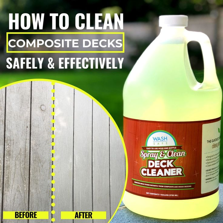 HOW TO CLEAN A TREX COMPOSITE DECK in 2020 Deck cleaner