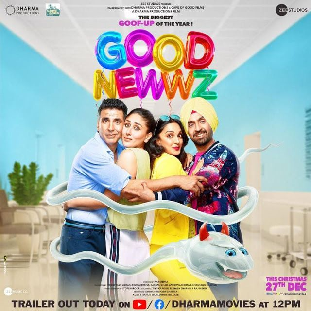 Good Newwz Good News Movie Free Download Hindi Film Bollywood Movie Good Newwz Is A 20 Best New Movies Full Movies Download Download Movies