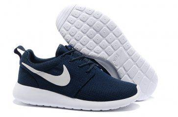 Nike Roshe Run Womens Dark Blue White Mesh shoes