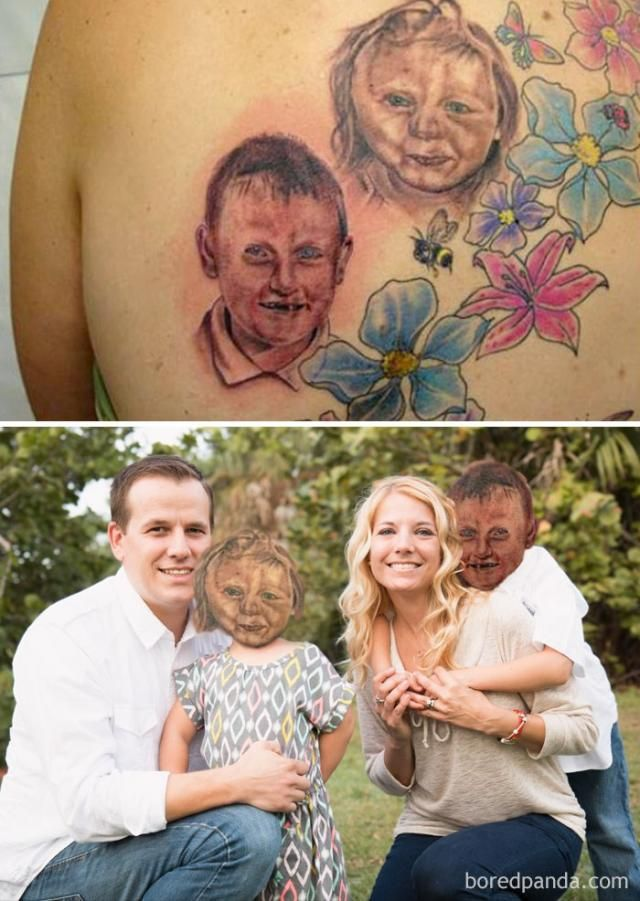 15+ Terrible Tattoos Photoshopped Into Reality