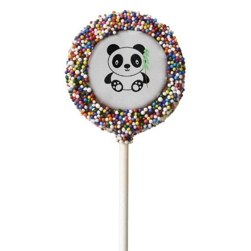 Panda with Bamboo Chocolate Dipped Oreo Pop