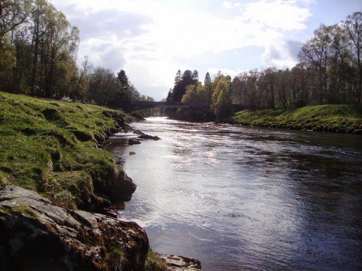 Laksefiskeri i det skotske højland