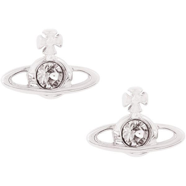 Vivienne Westwood Jewellery Nano Solitaire Earrings ($74) ❤ liked on Polyvore featuring jewelry, earrings, party jewelry, fake jewelry, imitation jewellery, artificial jewellery and fake earrings