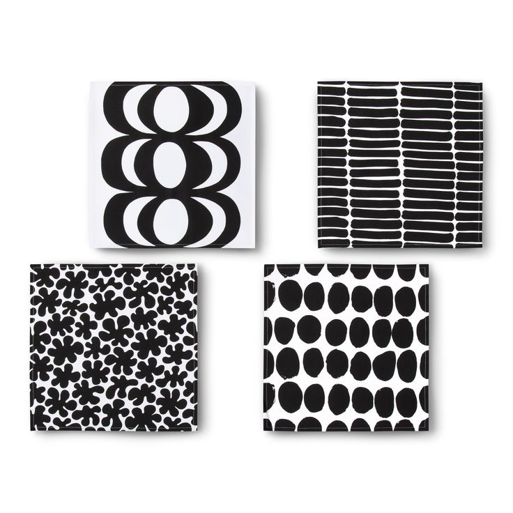 Napkins 4 Count - Multi Print - Black - Marimekko for Target