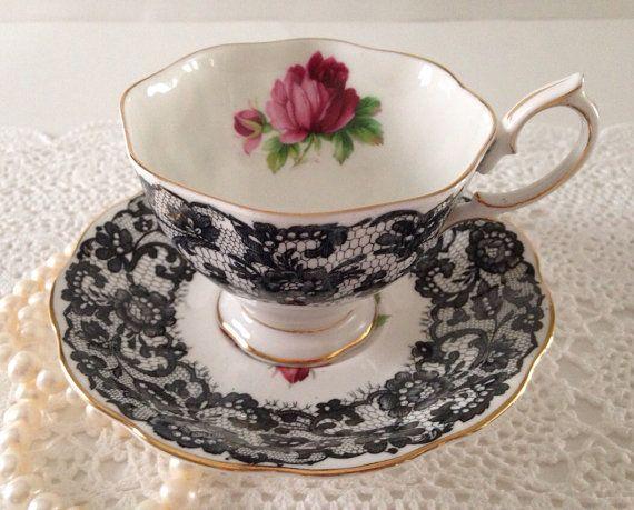 """Very Rare """"Señorita"""" Royal Albert China Tea Cup and Saucer:"""