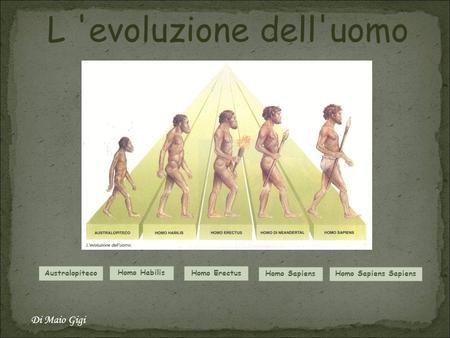 L 'evoluzione dell'uomo Di Maio Gigi Australopiteco Homo Habilis>