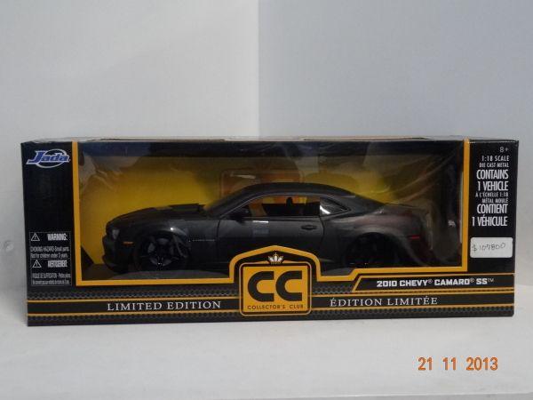 Carro colección Chevy Camaro SS 2010 color Negro. #RegalosParaEllos #Navidad2013