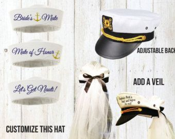 Let's Get Nauti Sailor Hats Nautical Cruise by Eventees on Etsy