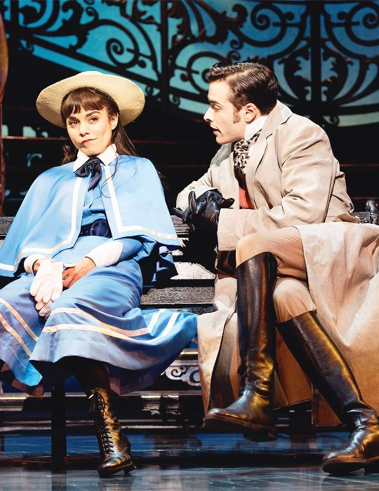 Vanessa Hudgens and Corey Cott in Gigi on Broadway