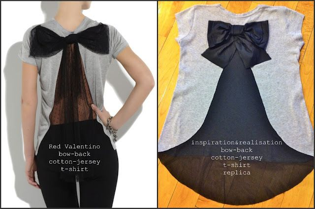 DIY bow on the back tee