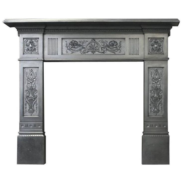 Restored Antique Late Victorian Cast Iron Fire Surround | From a unique collection of antique and modern fireplace tools and chimney pots at https://www.1stdibs.com/furniture/building-garden/fireplace-tools-chimney-pots/