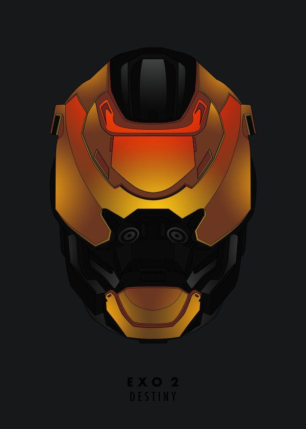 "Video Game Protagonist Helmet Blueprints Destiny EXO-2 #Displate artwork by artist ""Mr. Jackpots"". Part of a 16-piece set featuring designs based on helmets from various video game protagonists. £35 / $46 per poster (Regular size), £63 / $85 per poster (Large size) #Helmet #Helmets #VideoGame #VideoGames #Bioshock #Crysis #DeadSpace #Destiny #Dishonored #Doom #Fallout #Halo #Killzone #MassEffect #Metroid #MortalKombat #Skyrim #StarWars #Titanfall"