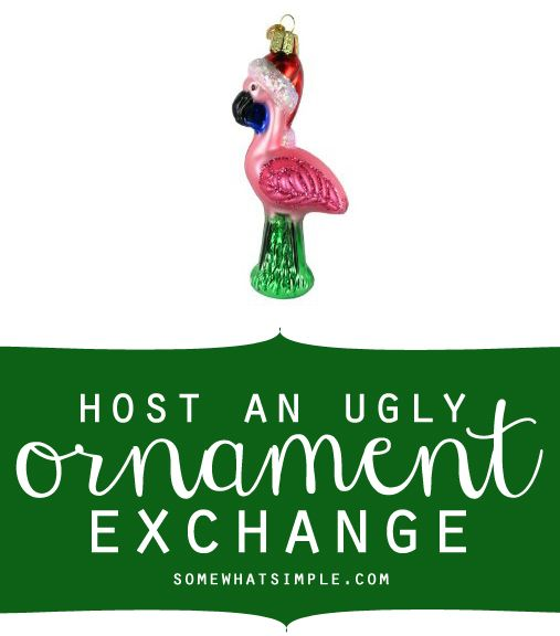 I love the idea of hosting an ugly Christmas ornament exchange!