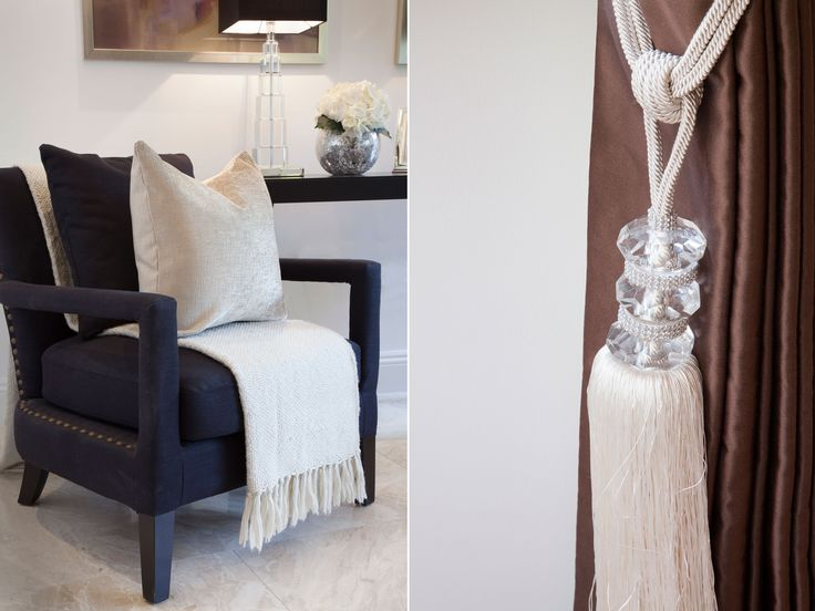 Elegant black armchair in Living Room | JHR Interiors
