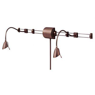 Dainolite Adjustable Reading Over the Bed Gooseneck Wall Lamp Finish: Oil Brushed Bronze