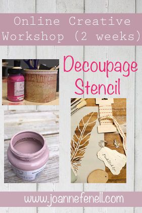 Interested in learning new creative techniques?Join our Online Workshops where you can learn how to decoupage using Chalk Paint from the comfort of your home.