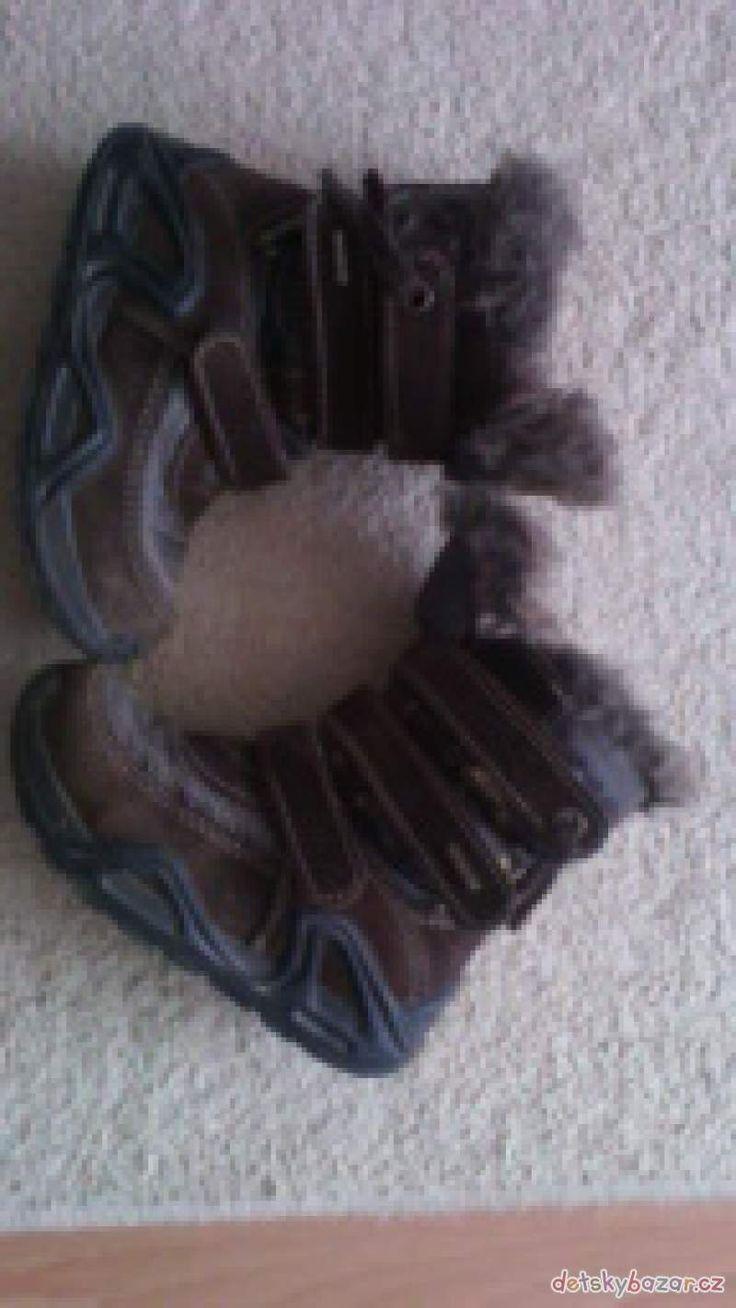 Dětské zimní boty, vel. 27, zn. Santé Prodám dětské zimní boty s kožíškem, zn. Santé, vel. 27, ve velmi dobrém stavu. Možno osobní předání v Praze
