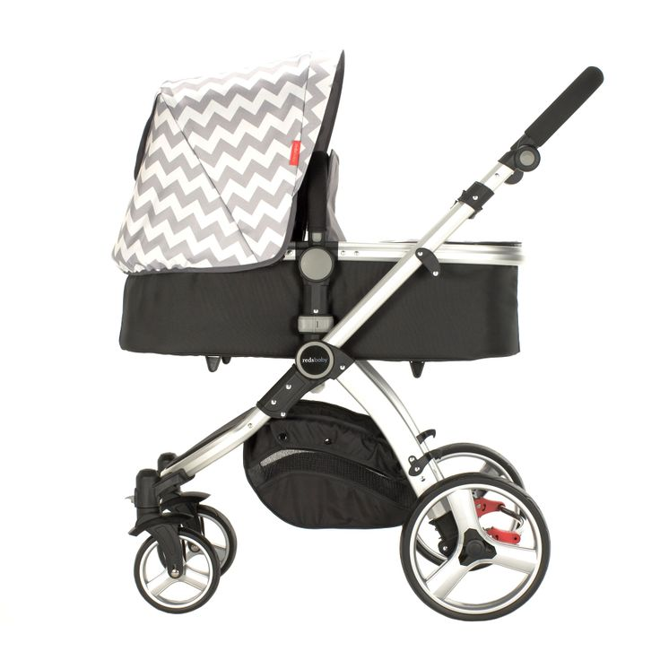 Redsbaby Bounce - The Utlimate All-In-One Stroller/ Pram www.redsbaby.com.au The perfect pram to buy for your newborn, with a beautiful bassinet that has a chevron lining - modern perfection!