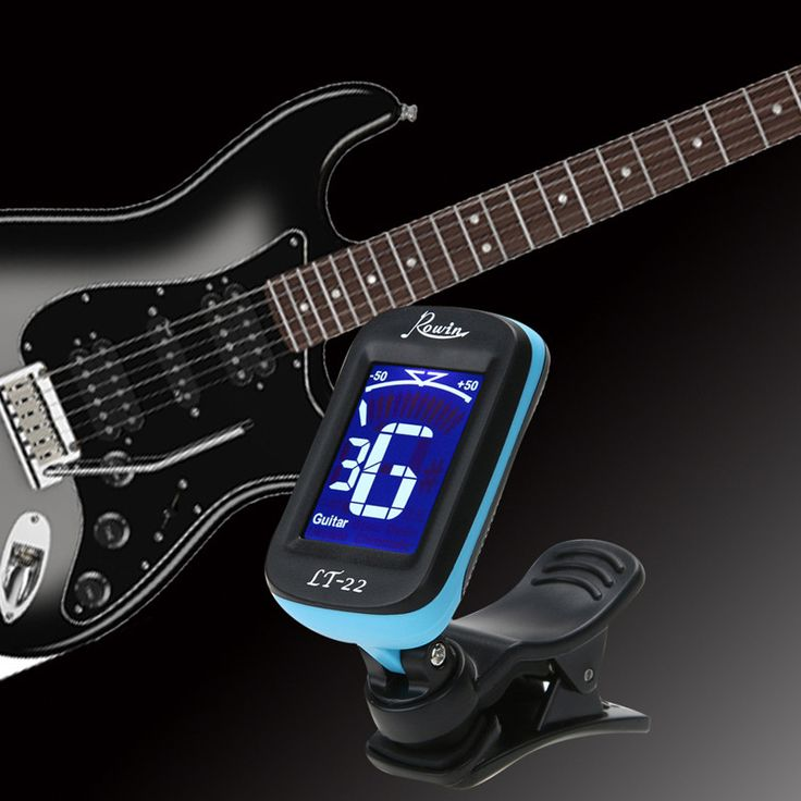 Electrical Digital Clip-on LCD Display Guitar Tuner 360 Degree Reversible Chromatic Clip Tuner for Guitar Bass Violin Ukulele