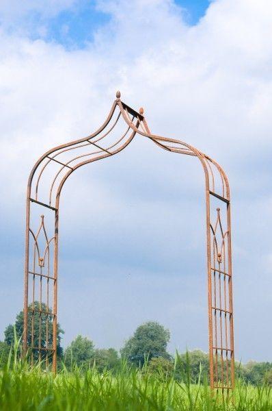 Rosenbogen Metall Rankbogen Breite: ca. 1,60 m Rost Stärke: 20 mm