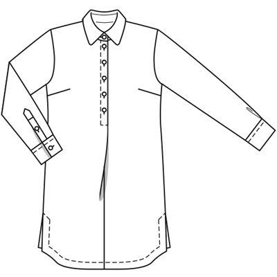 мое мятное платье-рубашка № 117 из журнала 6/2009