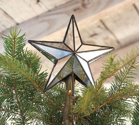 Mirrored Star Tree Topper - I'd like to edit the DIY Christmas tree star to have more edges like this one.-- too many choices!!!