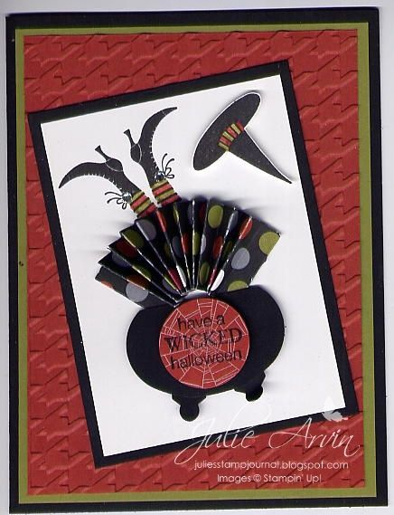 Stampin' Up!  Ornament Punch  Julie Arvin  Halloween Cauldron